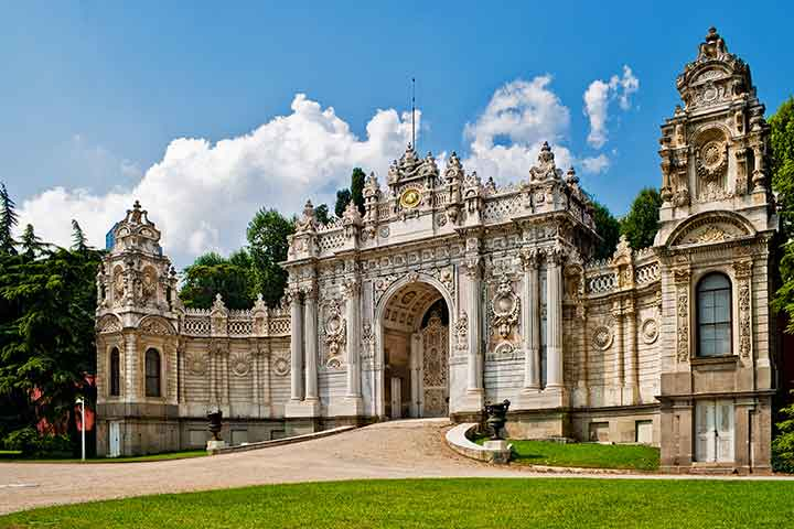 Dolmabahce Palace Entrance Istanbul