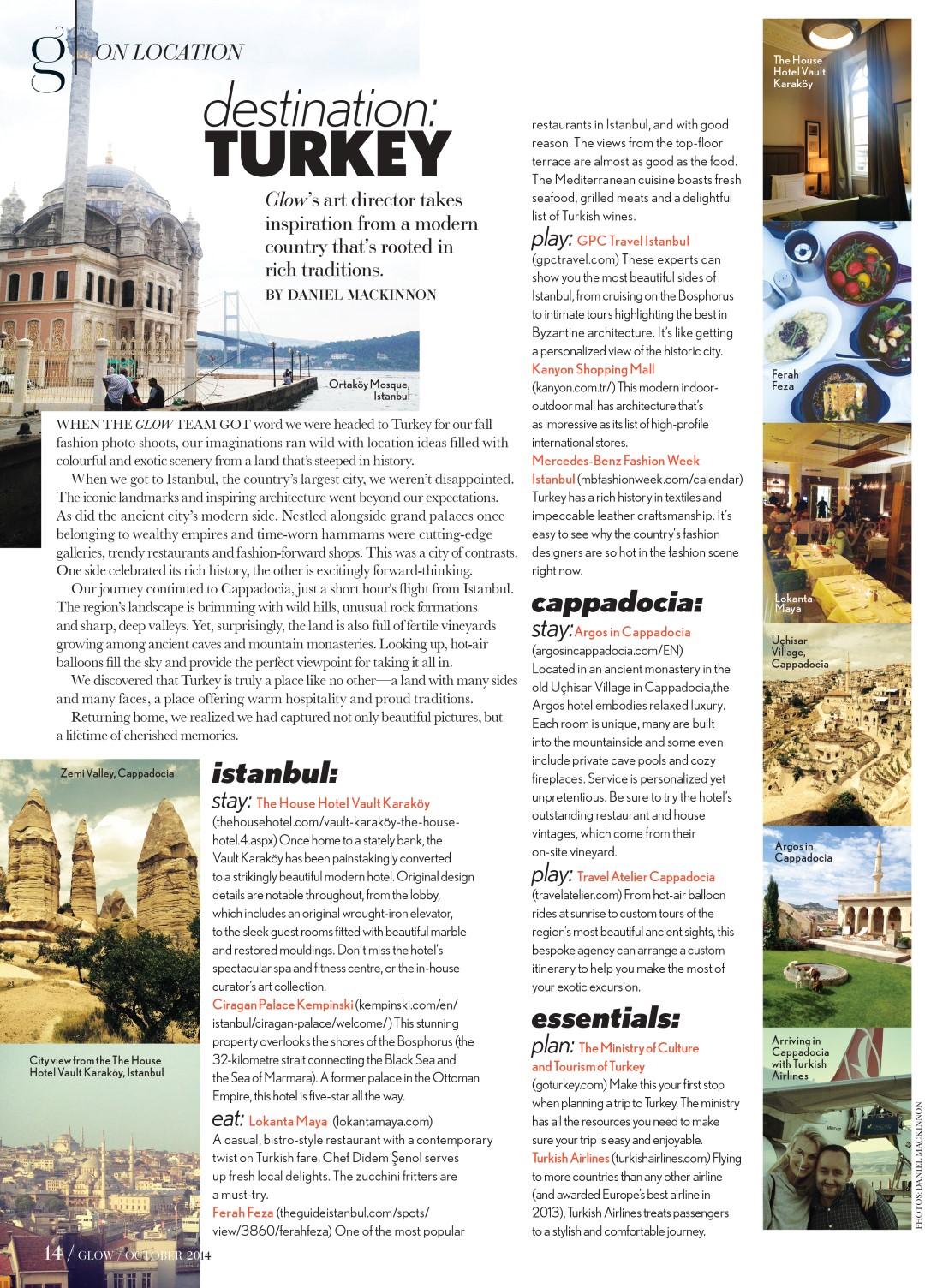 Glow Magazine Destination Turkey