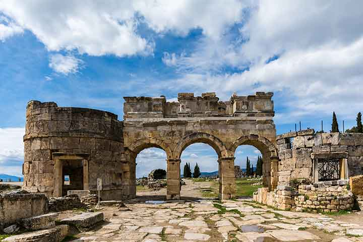 Hierapolis Ancient Gate Pamukkale