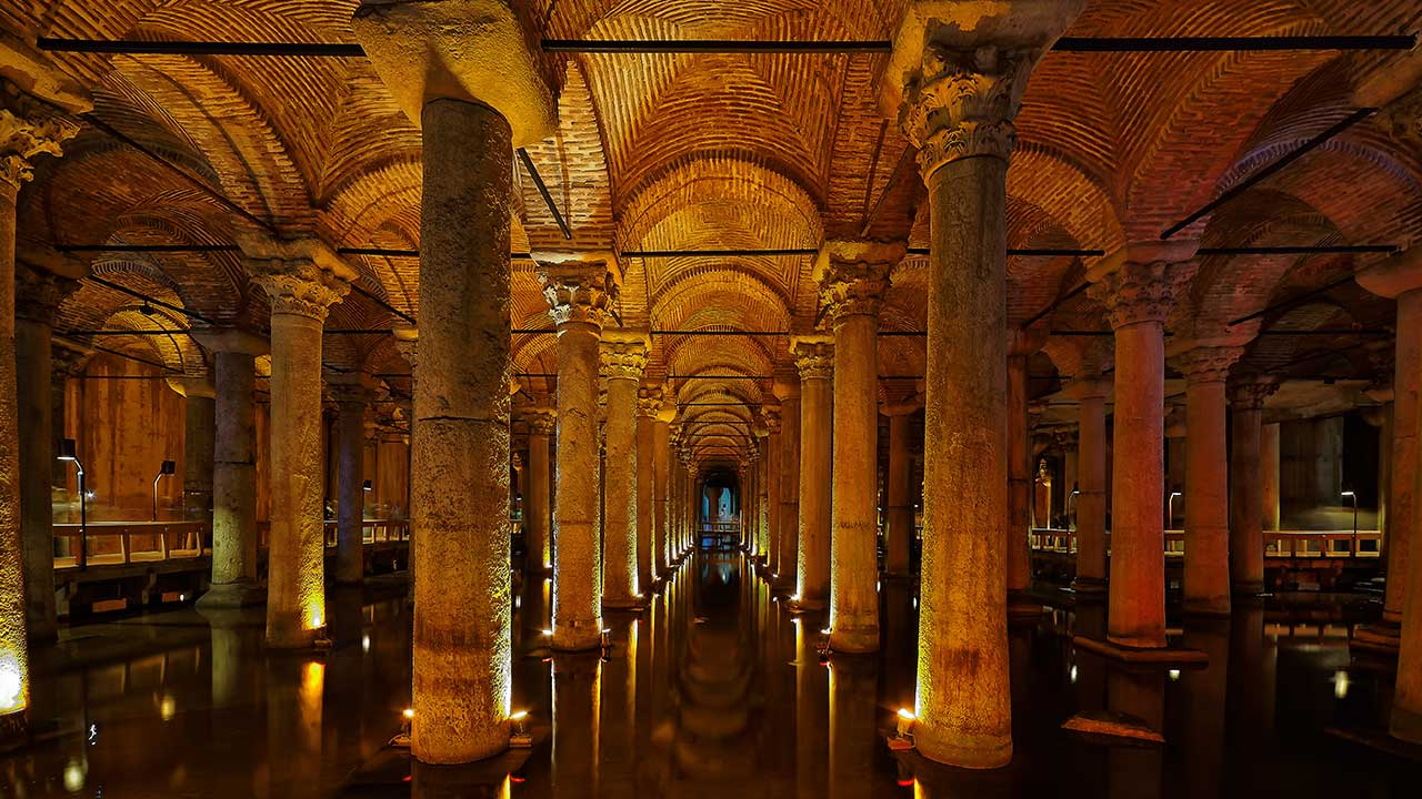 Istanbul Basilica Cistern Byzantium