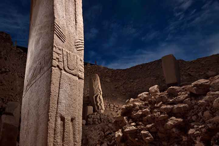 Pillars of Gobeklitepe Temple Turkey