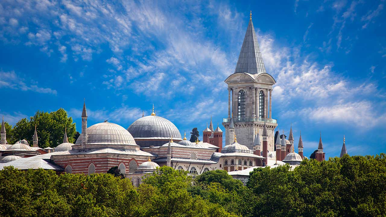 Topkapi Palace Domes Istanbul