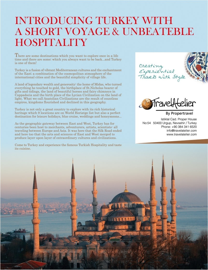 Travel Atelier Cappadocia Press Magazine