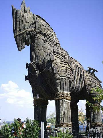 Trojan Horse in Canakkale Turkey