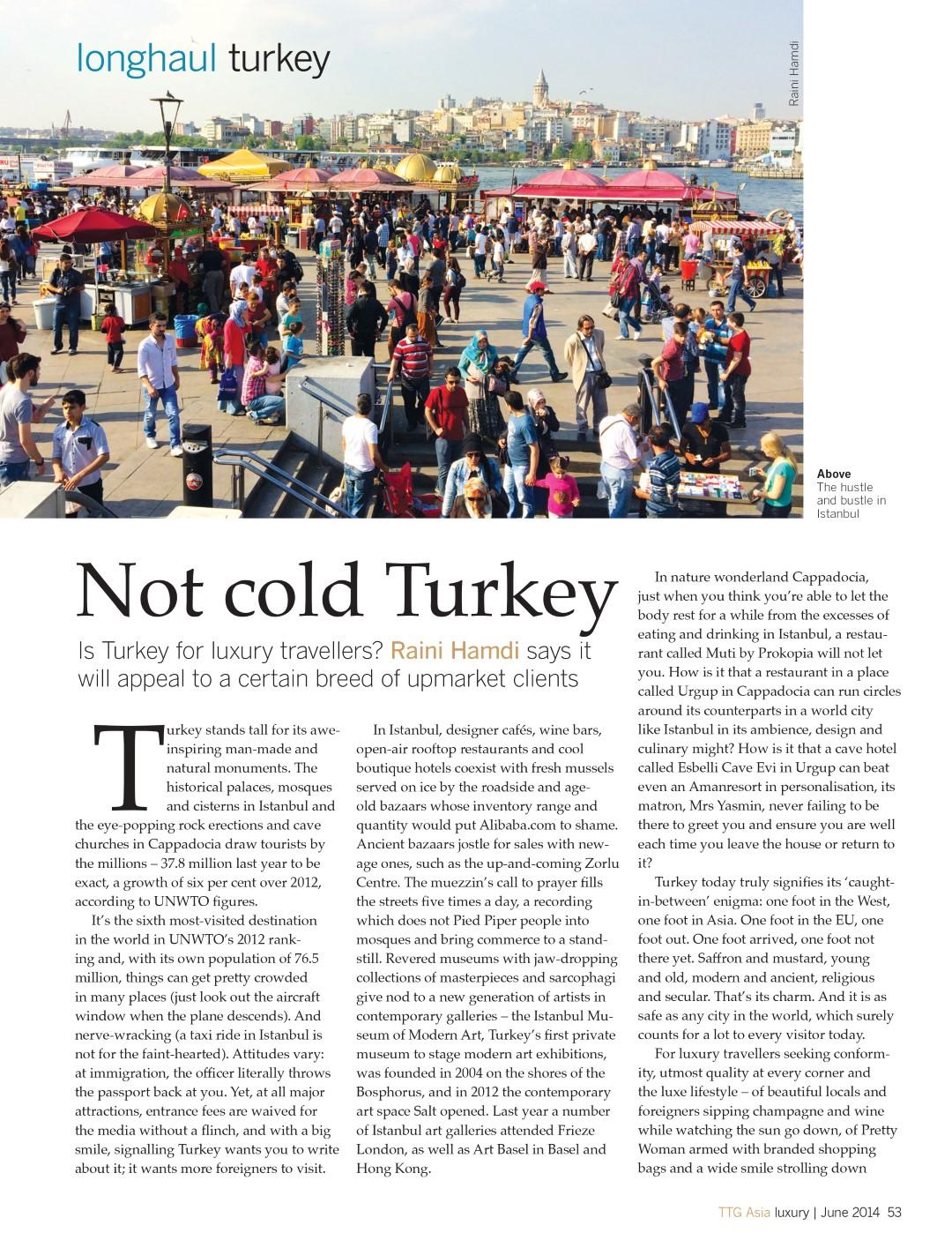 TTG Asia Luxury Turkey