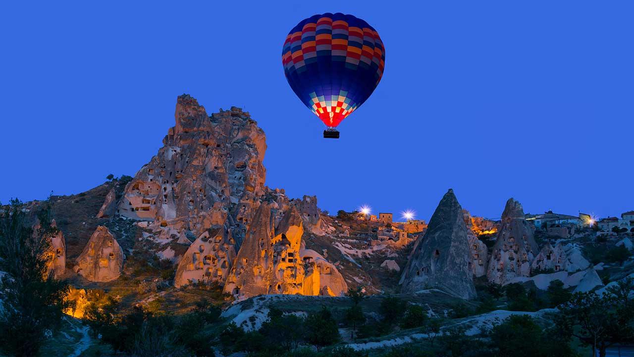 Uchisar Castle Fortress Cappadocia Balloon