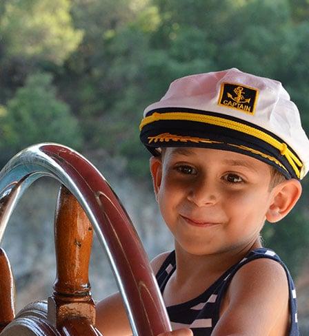 Kids on Private Gulet Yacht Turkey