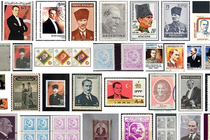 Ataturk on Stamps