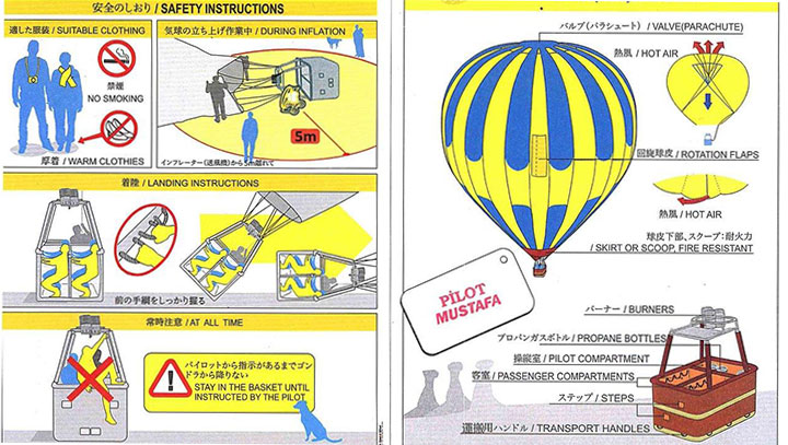 Hot Air Balloon Safety Instructions