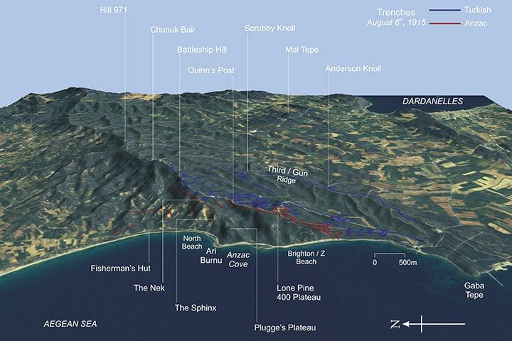 Anzac Gallipoli Campaign Map