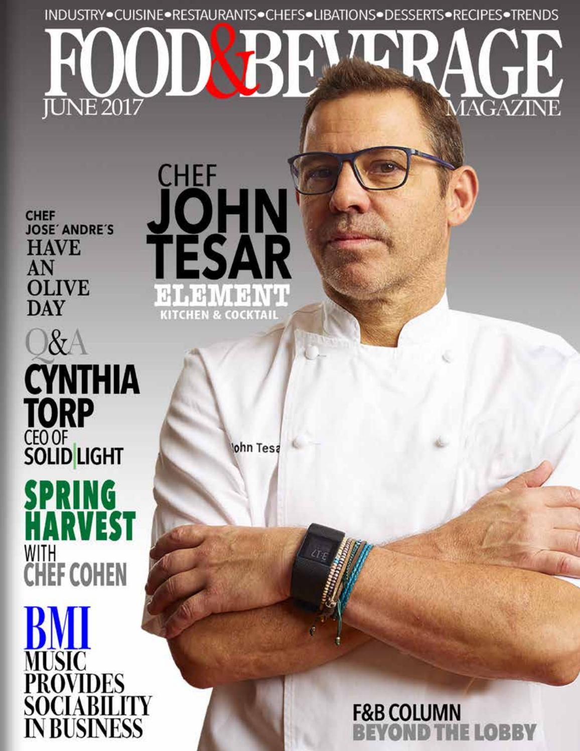 Food & Beverage Magazine June 2017 East Meet West, Cristina Carpio by Going Global TV Cover