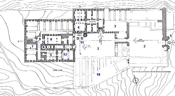 Ishak Pasha Palace Plan