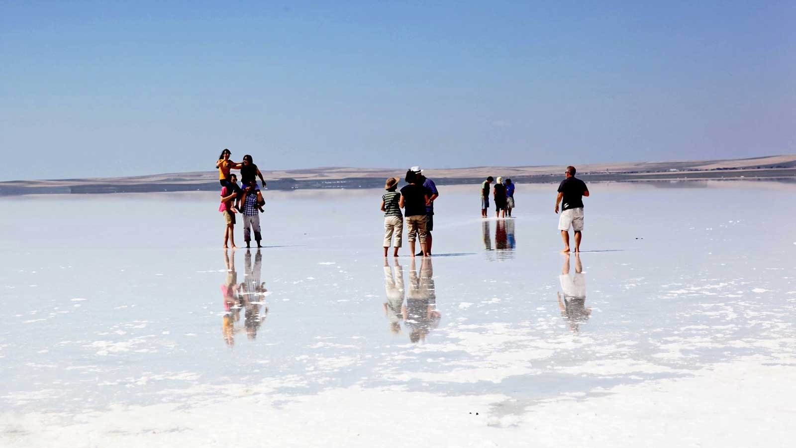 Tuz Golu (Salt Lake) in Turkey