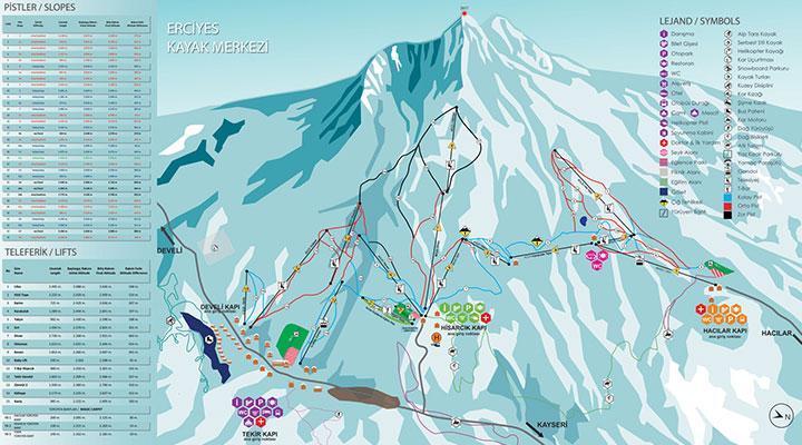 Erciyes Ski Map