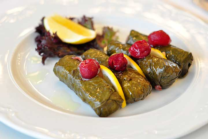 Ottoman Cuisine Stuffed Grape Leaves Rice