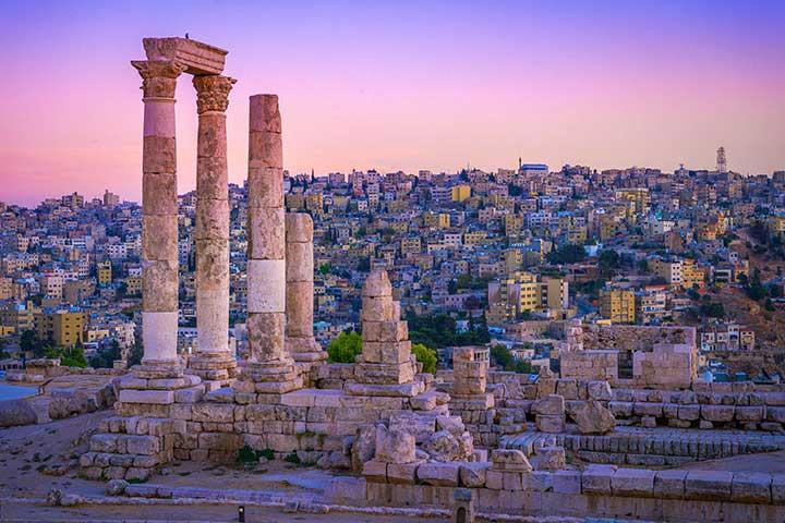 Citadel Ruins in Amman, Jordan