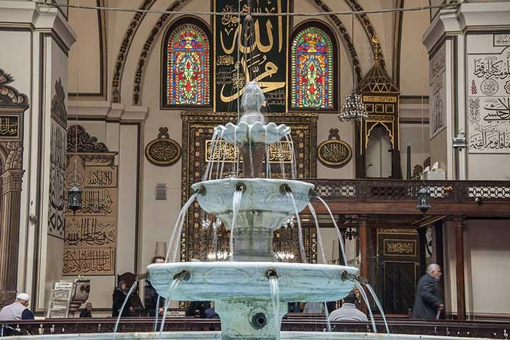 Bursa Ulu Mosque Interior Pool