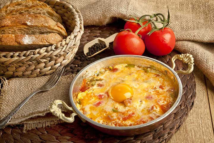 Menemen Turkish Eggs Omelet