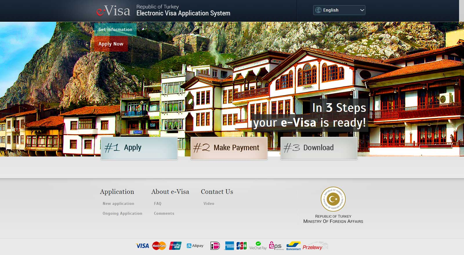 Official Website E-Visa Turkey