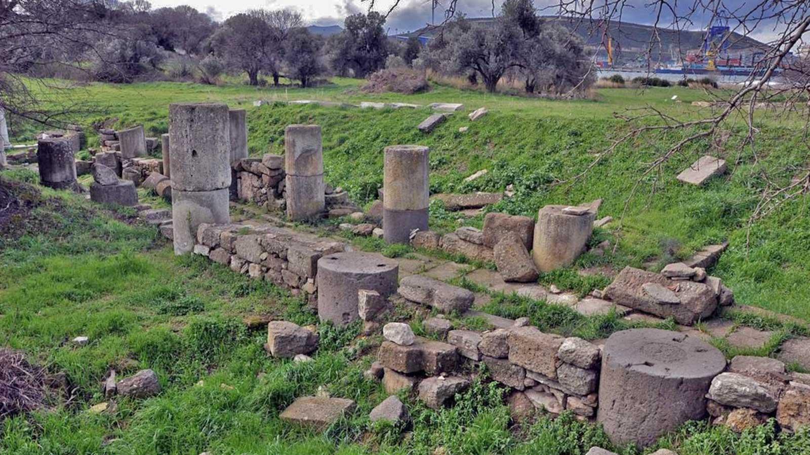 Sappho Homer Hesiod Kyme Ancient Site Aliaga Izmir