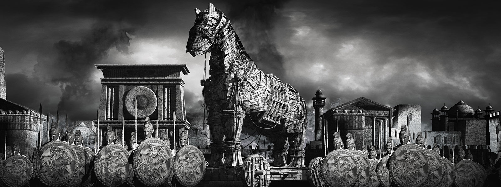 Trojan Horse War Illustration