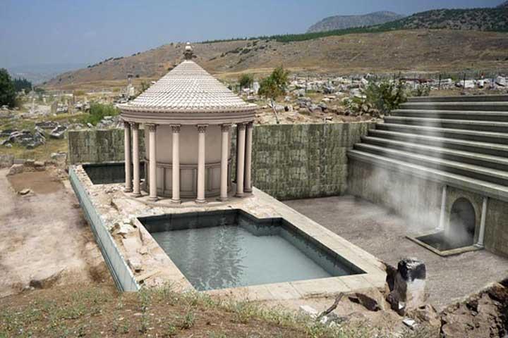 Ploutonion, Gate to Hell, Pamukkale Turkey