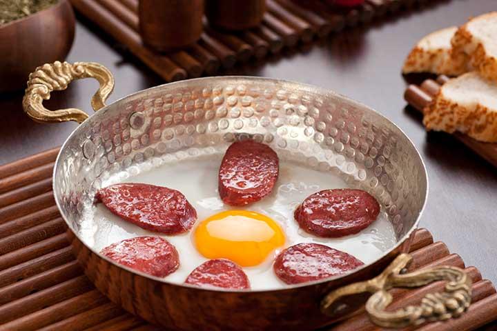 Turkish Breakfast Sucuklu Yumurta