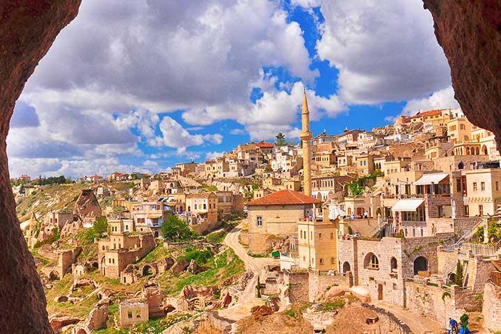 Uchisar Town, Cappadocia Turkey