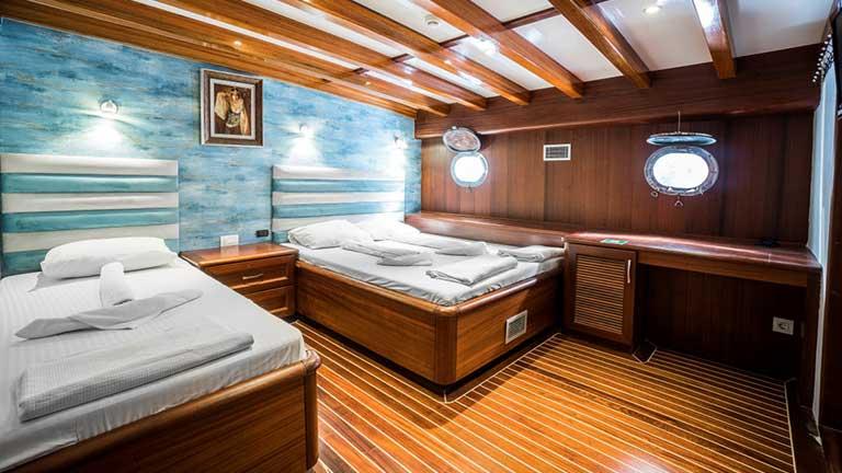 Gulet Love Boat Cabins