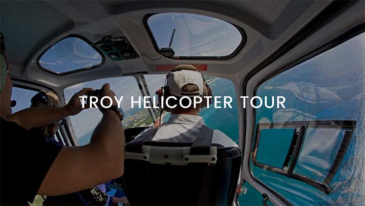 Troy Helicopter Tour from Istanbul